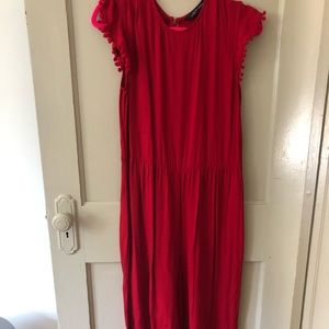 Red short sleeve Jumpsuit from Zara